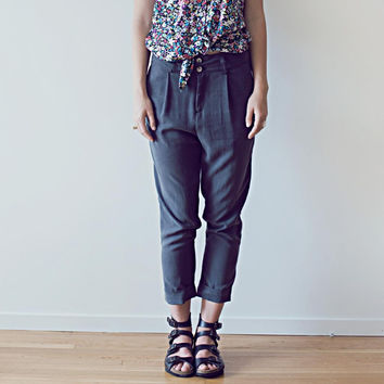 Tree Silk Pleat Pants - Made in Vancouver