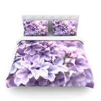 "Sylvia Cook ""Lilac"" King Fleece Duvet Cover - Outlet Item"