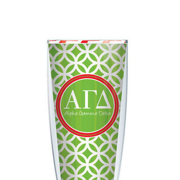 Alpha Gamma Delta Tumbler -- Customize with your monogram or name!