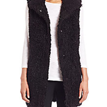 Theory - Visterna Teddy Faux Fur Vest - Saks Fifth Avenue Mobile