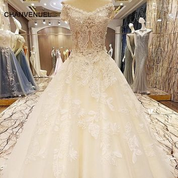 LS57821 special wedding dresses lace ball gown corset back wedding gowns 2018 robe de mariage real photos