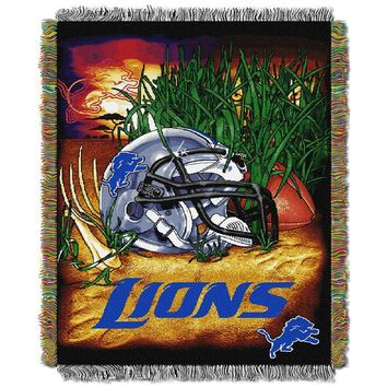 Detroit Lions NFL Woven Tapestry Throw (Home Field Advantage) (48x60)