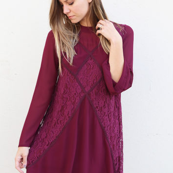 The Scarlett Dress {Wine}