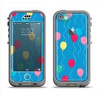 The Blue With Colorful Flying Balloons Apple iPhone 5c LifeProof Nuud Case Skin Set