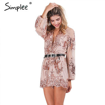 Romper Transparent Mesh Sleeve