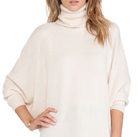 Joie Fidella Turtleneck Sweater in Cream