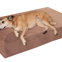 "Large Big Barker 7"" Orthopedic Dog Bed for Large Dogs - 48 x 30 x 7 (Headrest Edition)"