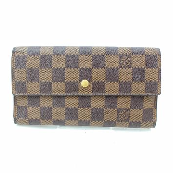 Authentic Louis Vuitton Long Wallet Portefeuille Tresor International 187017