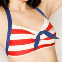 Skipper Red and White Striped Sailor Nautical by FablesbyBarrie
