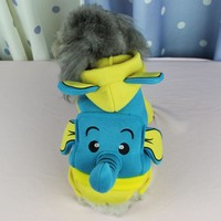 New High Quality Pet Autumn & Winter Dog Clothes Funny Elephant