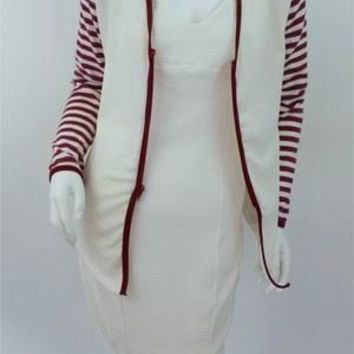 Linda Beige Sweater with Stripes