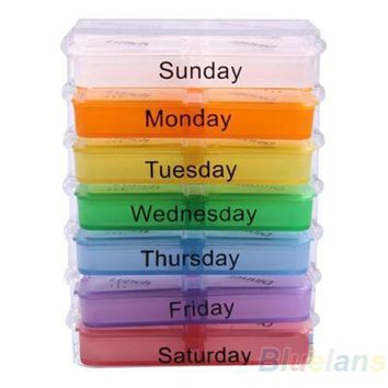 Remarkable Portable Medicine Weekly Storage Pill 7 Day