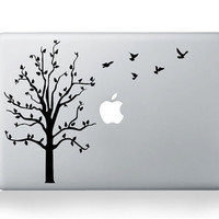 Birds Tree Macbook Decal Macbook Stickers Macbook Decals Laptop Skin Cover Apple Cover for Macbook Pro Air Notebook / iPad / iPad2/iPad3