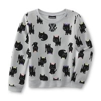 Infant & Toddler Girl's Graphic Sweatshirt - Kittens - Kmart