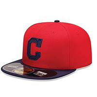 MLB Cleveland Indians Men's Authentic Diamond Era 59FIFTY Fitted Cap, 814, Red