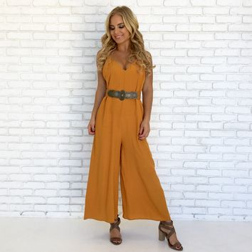 One & Done Jumpsuit in Mustard