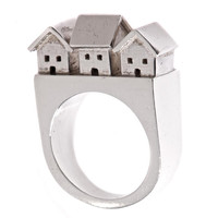 Neighborhood Statement Ring Sterling Silver