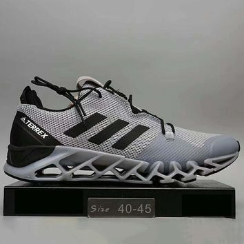 Adidas Men Running Sport Casual Shoes Sneakers Grey+Black G-A0-HXYDXPF