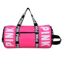 Print Pink  Female Shoulder Duffel Travel Bag