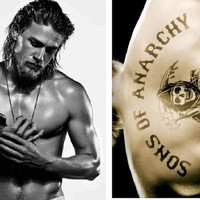 Charlie Hunnam Sons of Anarchy Sexy Two Sided Photo Acrylic Keychain