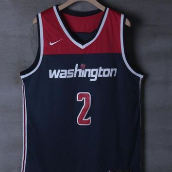 Washington Wizards #2 John Wall Navy Swingman Basketball Jersey