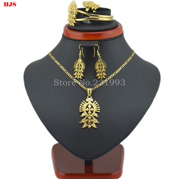 Ethiopian Cross Necklace Pendant/Bangle/Earring/Ring Sets Habesha Eritrea jewelry for for African Women Traditional holiday