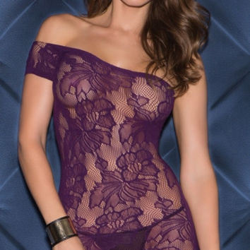 Seamless Single Sleeve Chemise Mini Dress