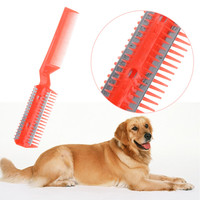 1PC Pet Dog Cat Scissors Plastic Stainless Steel Metal Curved Clipper Trimmer Pet Hair Grooming Scissor Tool