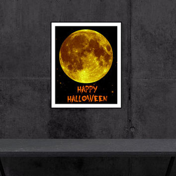 Halloween Full Moon PRINTABLE Art