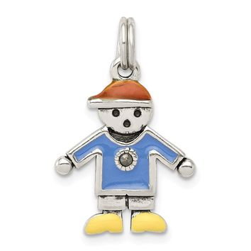 925 Sterling Silver Boy Charm and Pendant