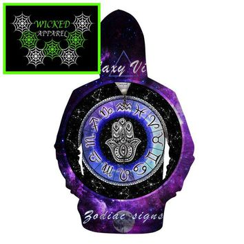 Wicked Apparel Zodiac signs Hoodie By Pixie cold #505