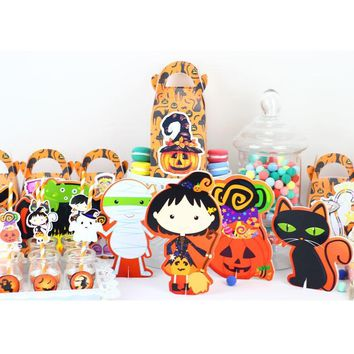 Halloween Party Decoration Pumpkin Table Centerpiece Kids Birthday Party Supplies Decoration Party Favors Centerpieces