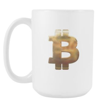 Bitcoin Hammered Logo Tall Mug