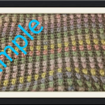 Custom Linen Stitch Crochet Afghan Made to Order Customize Size, Color Pattern