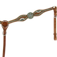 Teskey's Saddle Shop: Krazy Girl Turquoise Crystal Browband Headstall