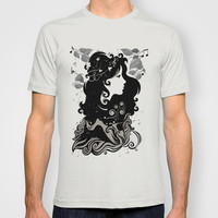 Musical psychedelic rain T-shirt by Viviana González