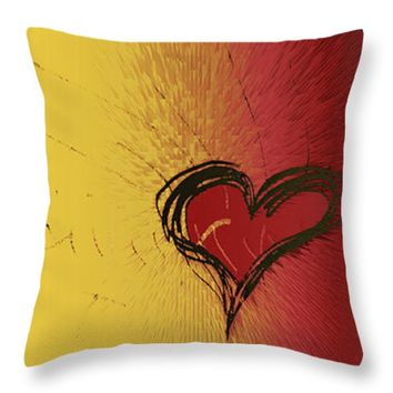"Passion Heart Throw Pillow 14"" x 14"""