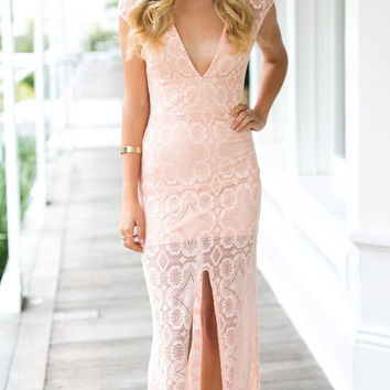 Heating Up Maxi Dress (pink)