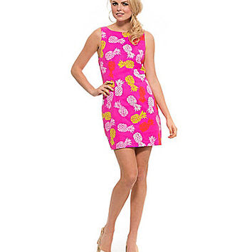 Macbeth Collection Neon Pineapple-Print Pop Mini Dress - Pineapple