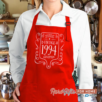 21st Birthday, 1994 Birthday, Full Length Apron, 21st Birthday Idea, 21st Birthday Present, 21st Birthday Gift,  For The Lucky 21 Year Old!