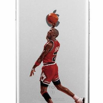 NBA Basketball Superstar Phone Cases Transparent Hard plastic Cover for iPhone