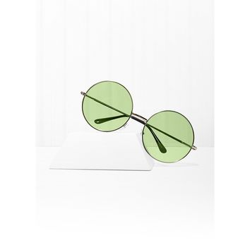 Almost Famous Round Green Sunglasses