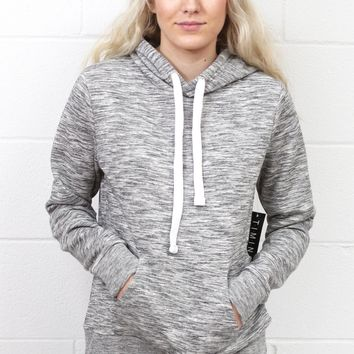 French Terry Sweatshirt Hoodie {H. Grey}