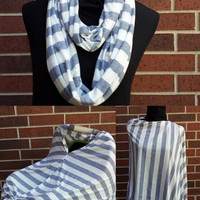 NEW ITEM -Grey Chevron Nursing Scarf/Car Seat Cover
