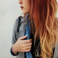 Auburn Fire Ombre//Auburn faded to Red Blonde Copper Clip In Set