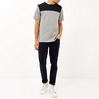 Grey split design t-shirt - t-shirts / tanks - sale - men