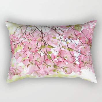 pink dogwoods Rectangular Pillow by Sylvia Cook Photography