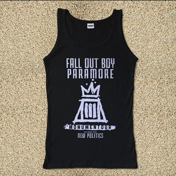 Fall Out Boy Paramore Monumentour for Tank Top Mens and Tank Top Girls