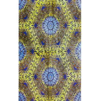 Yellow Psychedelic Eyes Tapestry