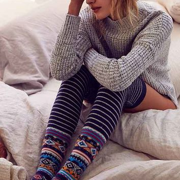 Winter Fair Isle Over-The-Knee Sock